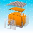 Панели утеплитель для Dogvilla 70 (модель: 87363000)
