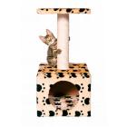 Дом для кошек Zamora беж с отпечатками лап Trixie 43354