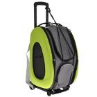 Складная сумка-тележка Ibiyaya для собак и кошек лайм