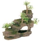 Грот Каменная лестница с растениями Trixie 8852