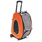 Складная сумка-тележка Ibiyaya для собак и кошек оранжевая