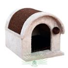 44092 Дом для кошек Trixie Arlo серый/коричневый