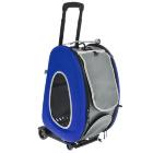 Складная сумка-тележка Ibiyaya для собак и кошек синяя