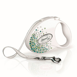 Рулетка Flexi Glam Splash Leaf S, ремень, 3 м 12 кг