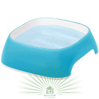 Миска пластиковая GLAM SMALL 1.2 л голубая