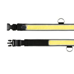 Светоотражающий ошейник для выгула ночью Trixie M-L 40-55 см