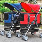 Коляска для собак и кошек Pet Stroller Deluxe красная
