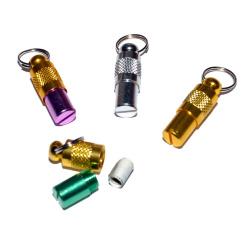 Адресник капсула алюминий цветной 25 мм