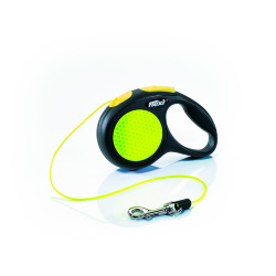 Рулетка Flexi Neon Safety Plus XS, трос, 3 м 8 кг