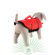 Спасательный жилет для собаки, размер M Trixie 30143 - общий вид изделия сзади