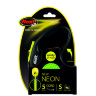 Рулетка Flexi Neon Safety Plus S, трос, 5 м 12 кг