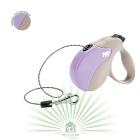 Рулетка со сменной крышкой Amigo mini бежево-фиолетовая