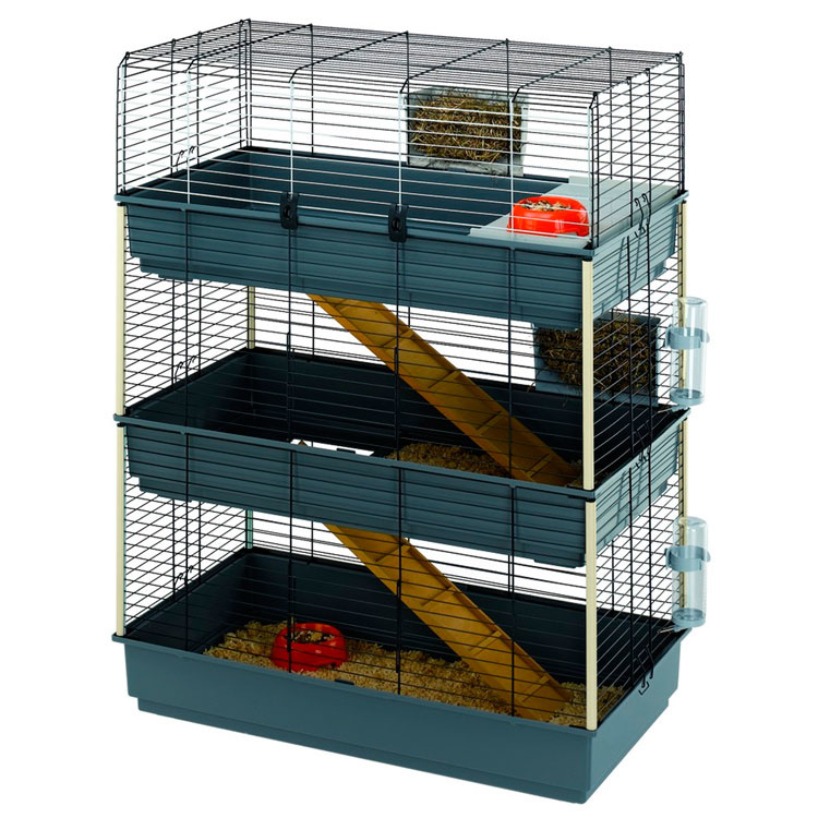 Клетка для кроликов трехъярусная
