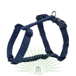 Шлейка Premium H-harness, L–XL: 75–120 см/25 мм, индиго, Trixie 203513
