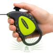 Рулетка-поводок Flippy Deluxe Cord Mini зеленая - Рулетка-поводок Flippy Deluxe Cord Mini зеленая - кнопка управления
