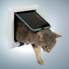 Дверь для кошки 4 позиции белая Trixie 38621