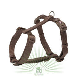 Шлейка Premium H-harness, L–XL: 75–120 см/25 мм, мокко, Trixie 203515