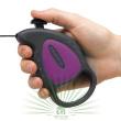 Рулетка-поводок Flippy Deluxe Cord Mini фиолетовая - Рулетка-поводок Flippy Deluxe Cord Mini фиолетовая - кнопка управления