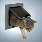 Дверь для кошки 4 позиции серая Trixie 38622