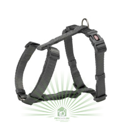 Шлейка Premium H-harness, L–XL: 75–120 см/25 мм, графит, Trixie 203516