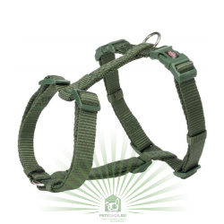 Шлейка Premium H-harness, L–XL: 75–120 см/25 мм, лес, Trixie 203519