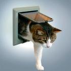 Дверь для кошки De Luxe 4 позиции серая Trixie 38642