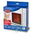 Дверь для кошки De Luxe 4 позиции коричневая Trixie 38643 -