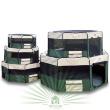 Вольер-Тент Триол XL - Вольеры из ткани Триол 1048 все размеры. Видно слева на право размеры: S,M,L,XL,XXL