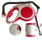Flexi VARIO набор (ёмкость, фонарик, рулетка трос), М 5м 20 кг, красный