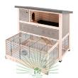 Клетка Ranch 120 Max для содержания кроликов на улице, деревянная - общий вид с выдвижной нижней частью