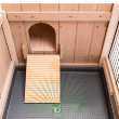 Клетка Ranch 120 Max для содержания кроликов на улице, деревянная - лесенка в домик