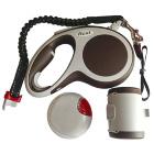 Flexi VARIO набор (ёмкость, фонарик, рулетка трос), М 5м 20 кг, коричневый