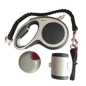 Flexi VARIO набор (ёмкость, фонарик, рулетка трос), М 5м 20кг Антрацит