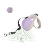 Рулетка со сменной крышкой Amigo Tape mini бежево-фиолетовая