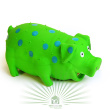 Игрушка для собак Loofa Поросенок в горошек - общий вид, зеленая