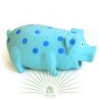 Игрушка для собак Loofa Поросенок в горошек - общий вид, голубая