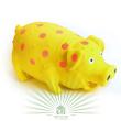 Игрушка для собак Loofa Поросенок в горошек - общий вид, желтая