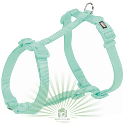 Шлейка Premium H-harness, L–XL: 75–120 см/25 мм, мята, Trixie 203524