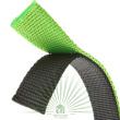 Ошейник Dual Pyramids CF 15/35 зелено-черный - Ошейник DUAL PYRAMIDS CF 15/35 зелено-черный - двойной нейлон