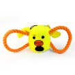 Игрушка для собак Loofa Морда собаки с канатами - общий вид, желтая