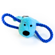 Игрушка для собак Loofa Морда собаки с канатами - общий вид, синяя