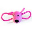 Игрушка для собак Loofa Морда собаки с канатами - общий вид, розовая