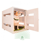 Дом для собак деревянный белый Ferplast Dog Home Large