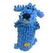 Игрушка для собак Loofa Собака мохнатая + бутылка - общий вид, синяя