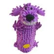 Игрушка для собак Loofa Собака мохнатая + бутылка - общий вид, фиолетовая