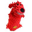 Игрушка для собак Loofa Собака мохнатая + бутылка - общий вид, красная