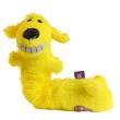 Игрушка для собак Loofa Собака - гармошка - общий вид, желтая