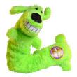 Игрушка для собак Loofa Собака - гармошка - общий вид, зеленая