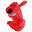 Игрушка для собак Loofa Собака - гармошка - общий вид, красная