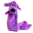 Игрушка для собак Loofa Собака полая большая - общий вид, фиолетовая
